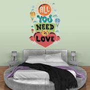 ADESIVO DE PAREDE - FRASE: ALL YOU NEED IS LOVE
