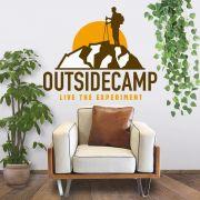 ADESIVO DE PAREDE - FRASE: OUTSIDE CAMP