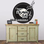 ADESIVO DE PAREDE - MUSIC DAY