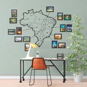 Mapa do Brasil com molduras em MDF 3mm