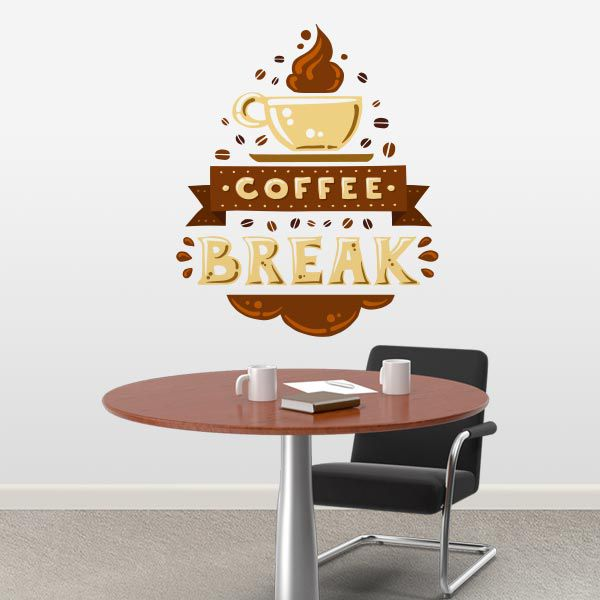 ADESIVO DE PAREDE - FRASE: COFFEE BREAK