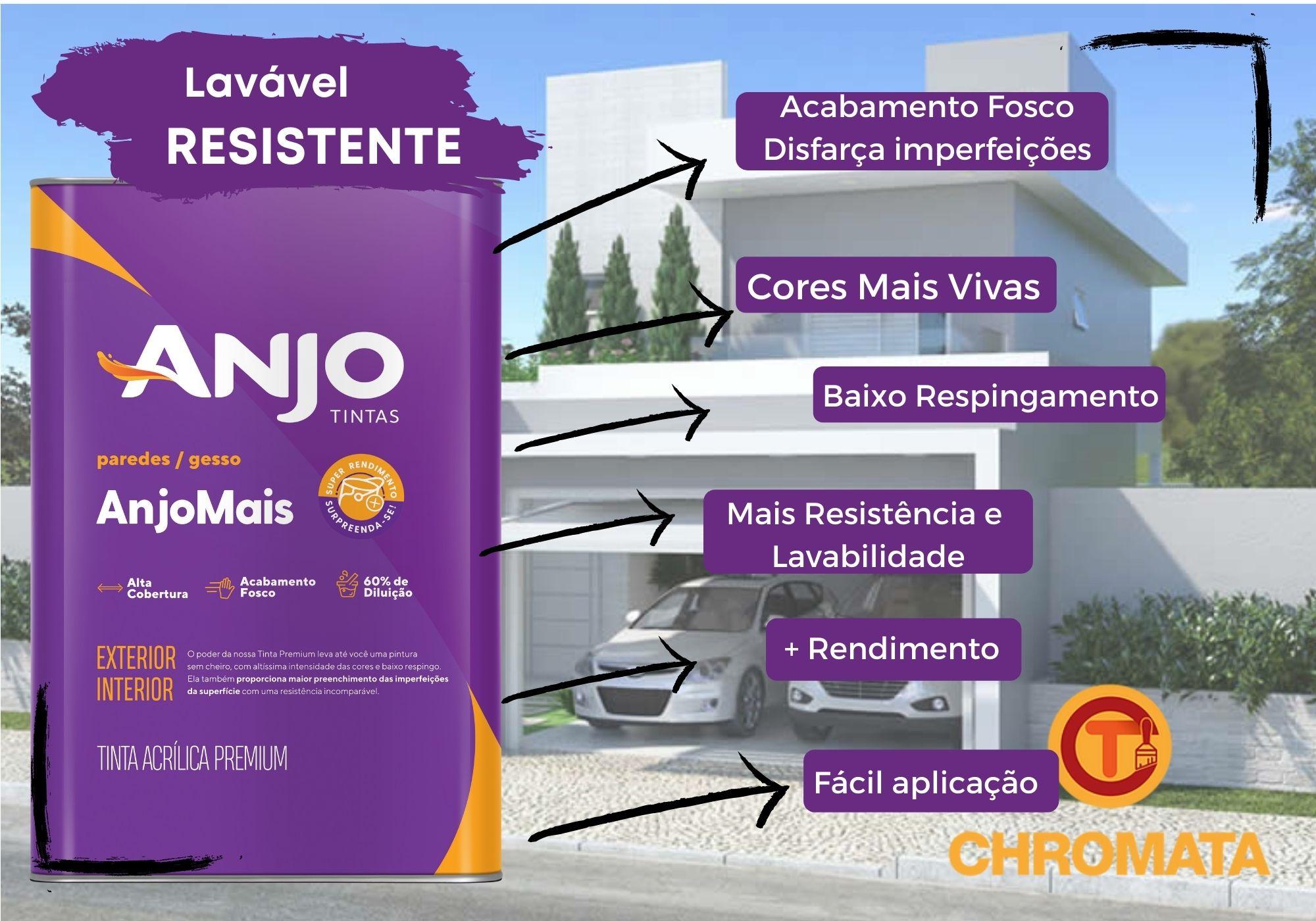 Anjo Mais Acrílico Premium Fosco 18L*