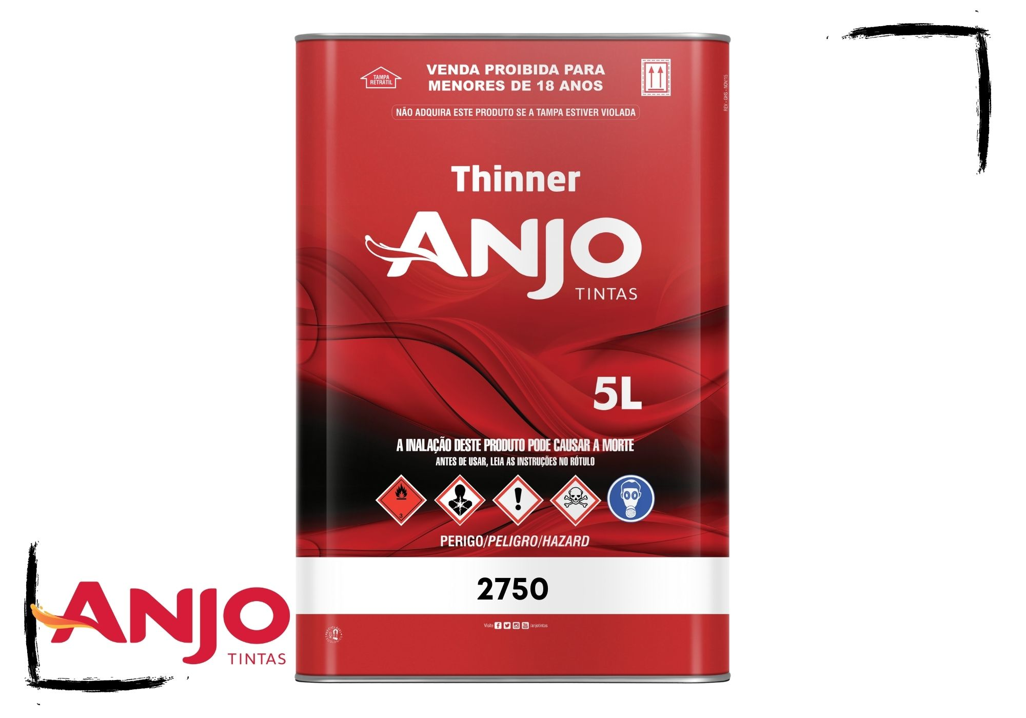 Anjo Thinner 2750 Limpeza e Diluição