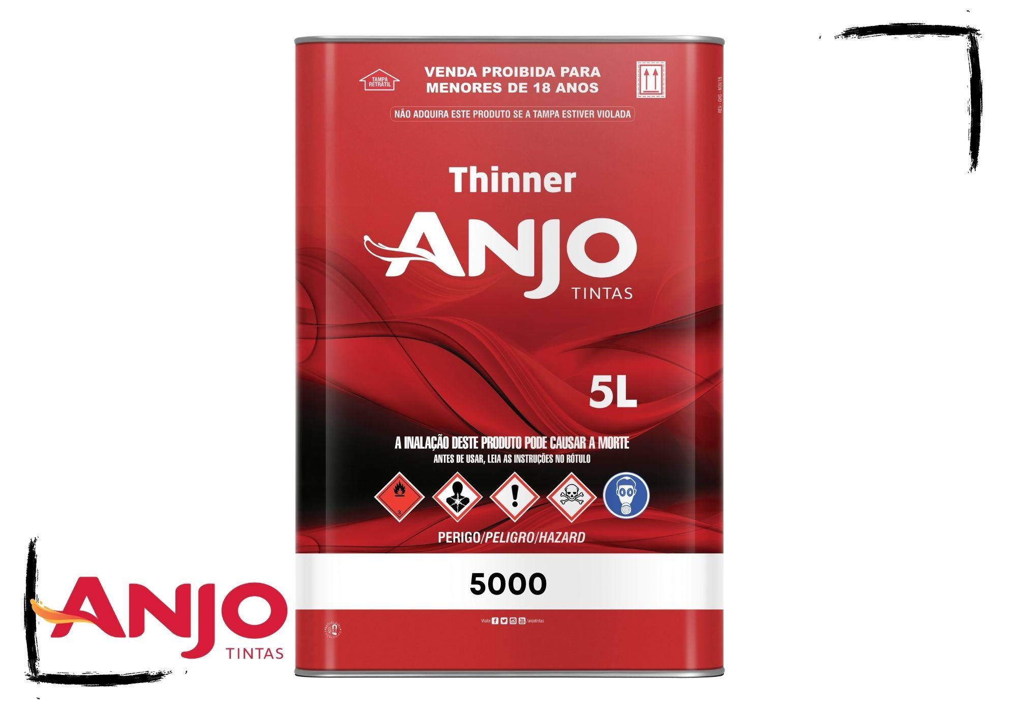 Anjo Thinner 5000 Diluente Pu e Poliéster