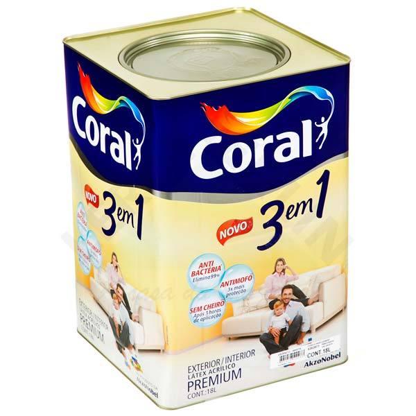 Coral 3em1 Antimofo Antibactéria e Sem Cheiro*18L