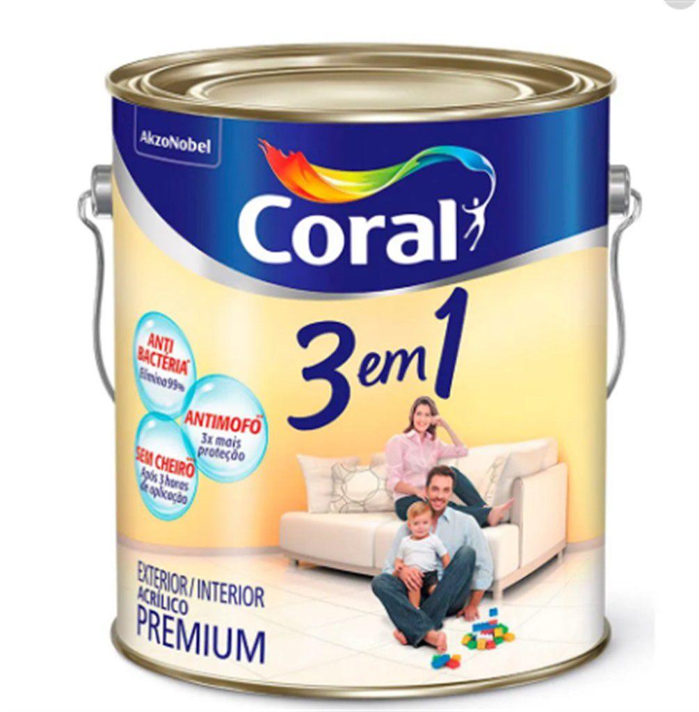 Coral 3em1 Antimofo Antibactéria e Sem Cheiro* 3,6L**