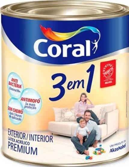 Coral 3em1 Antimofo Antibactéria e Sem Cheiro* 900ml**