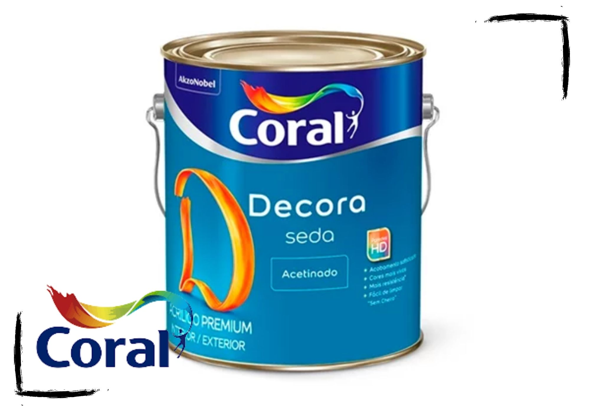 Coral Decora Acabamento Seda 3,6L