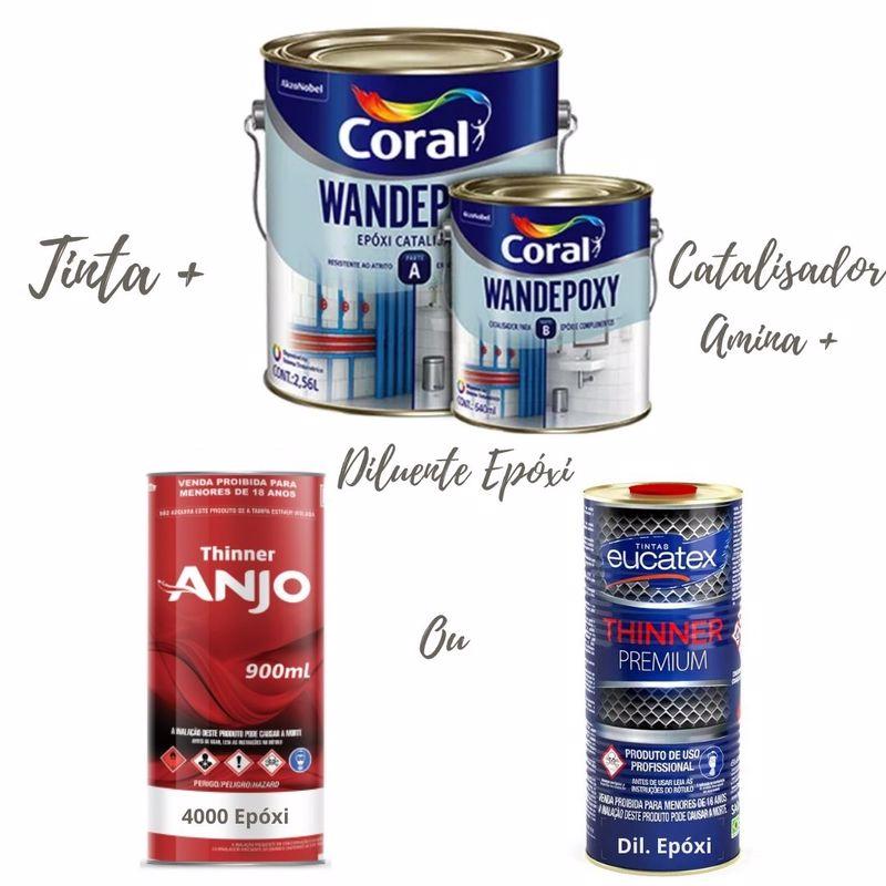 Coral Wandepoxy Kit Epóxi C/Catalisador Amina+Diluente
