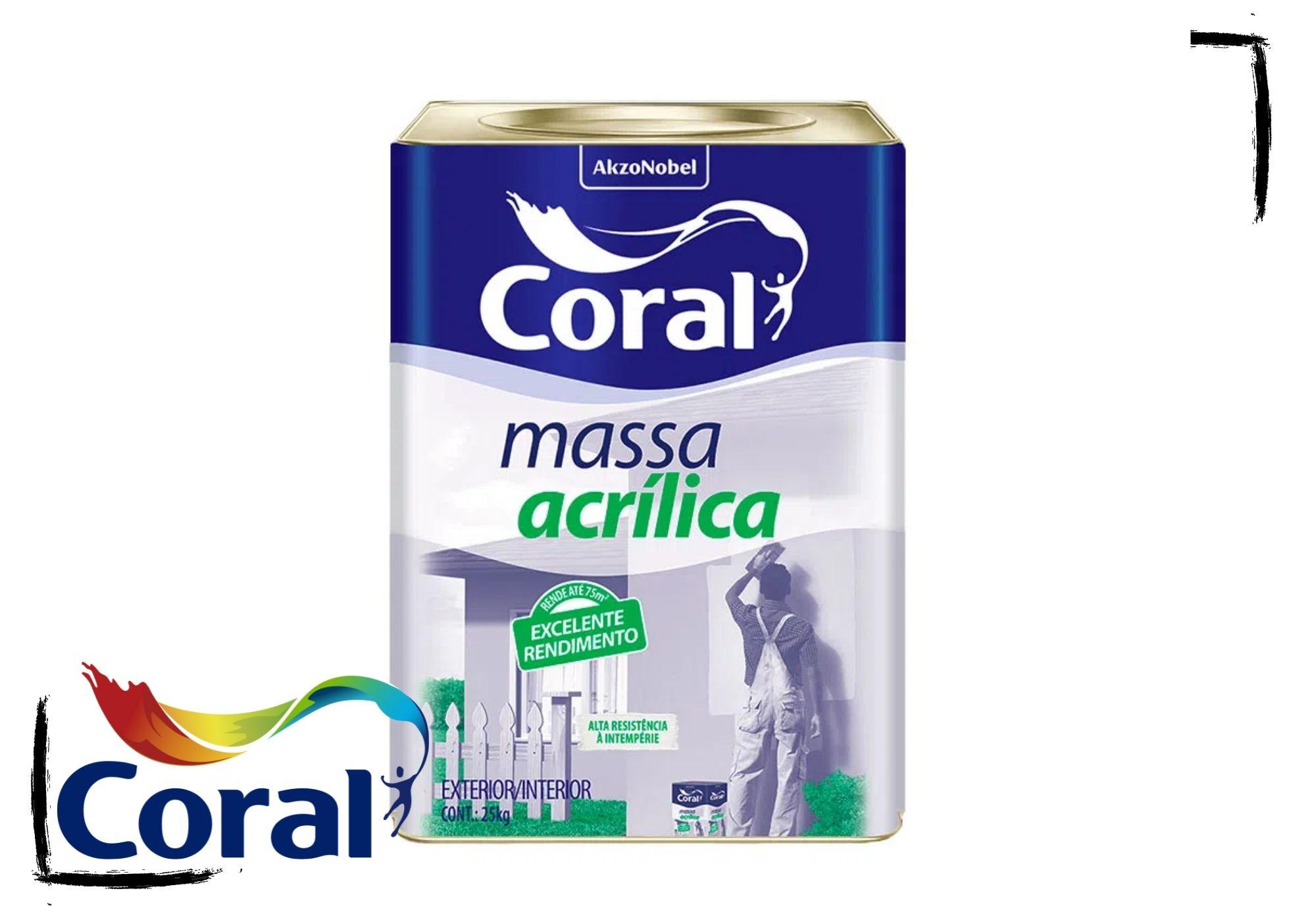 Coral Massa Acrílica