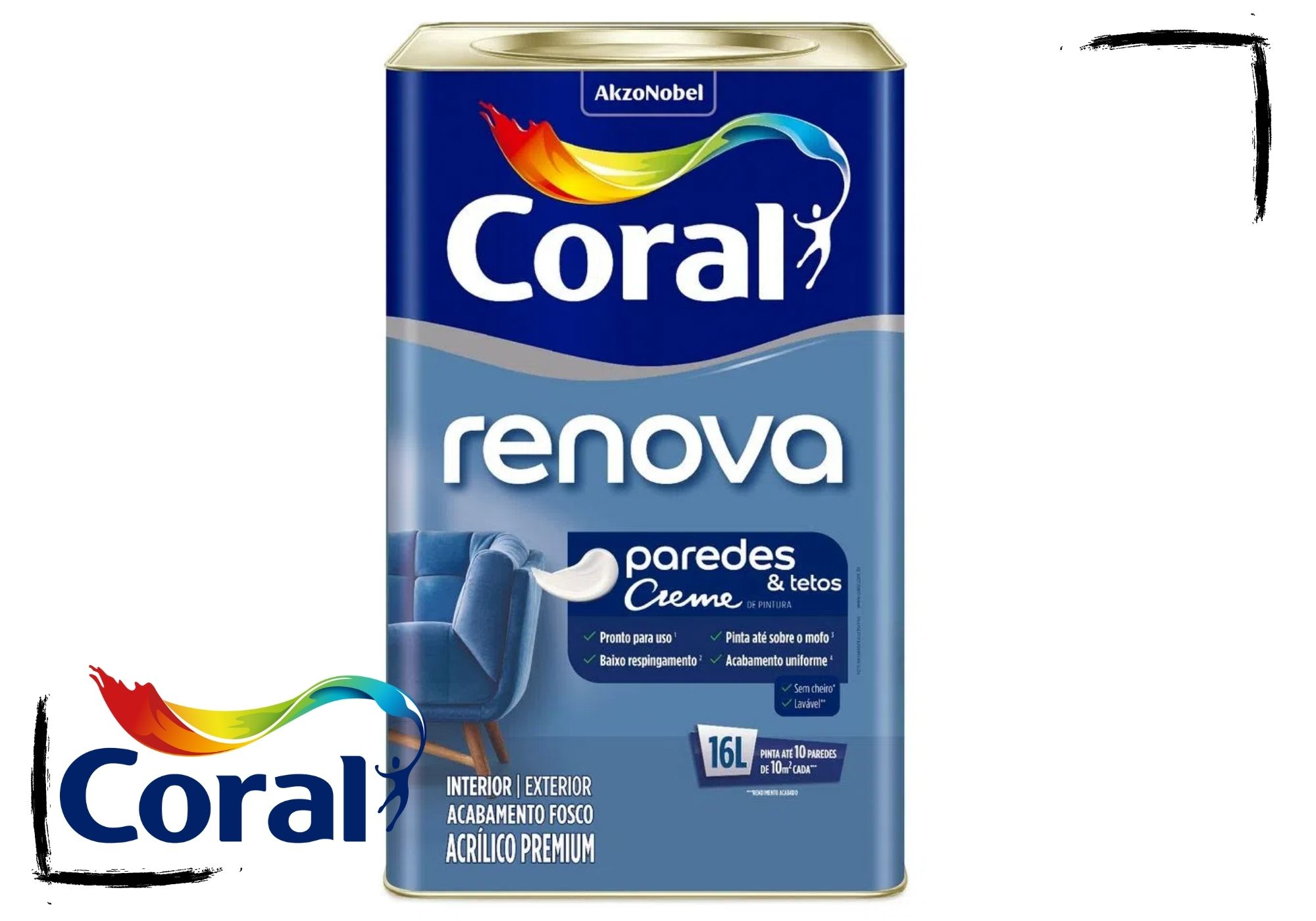 Coral Renova Creme Paredes&Tetos Antimofo 16L