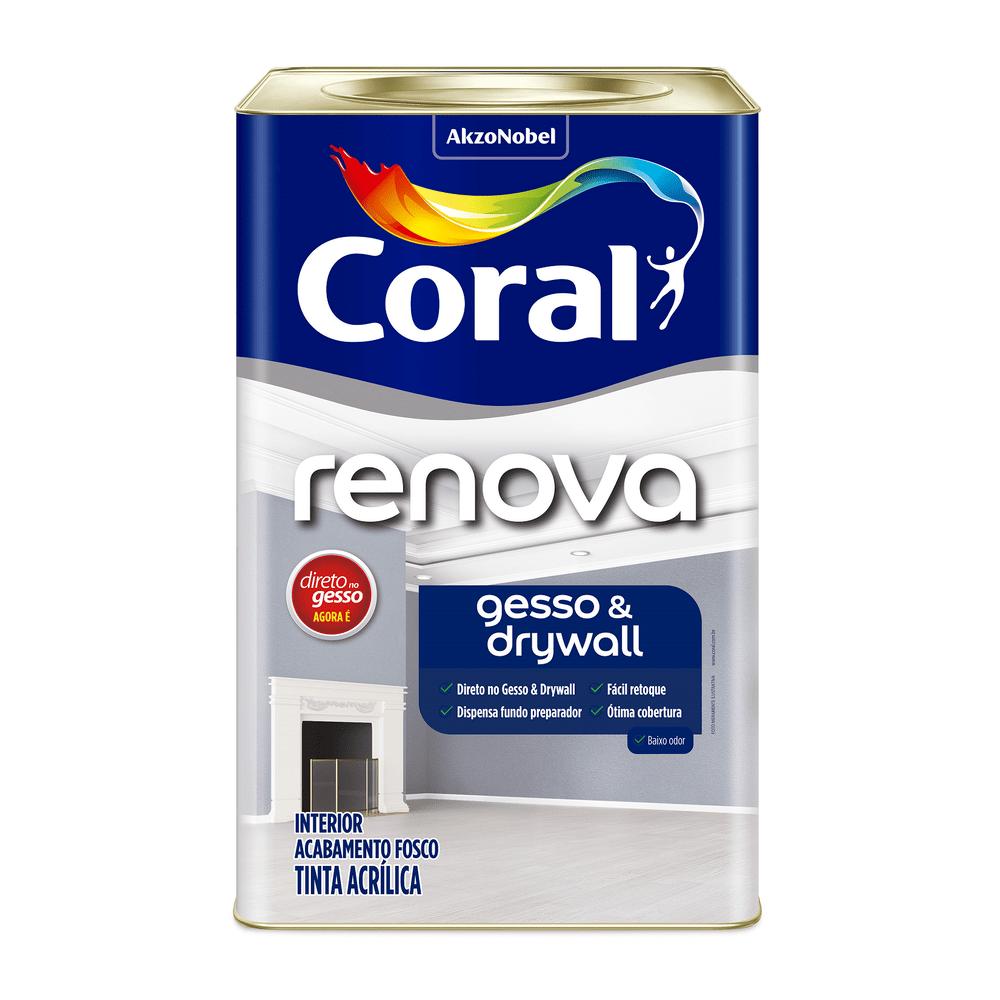Coral Renova Gesso e Drywall 18l ou 3,6l