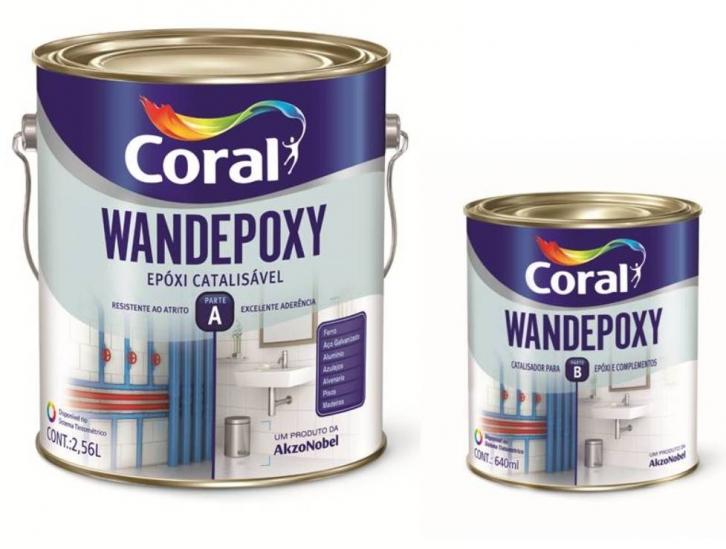 Coral Wandepoxy Esmalte Epóxi Brilho Catalisável 2,7 litros