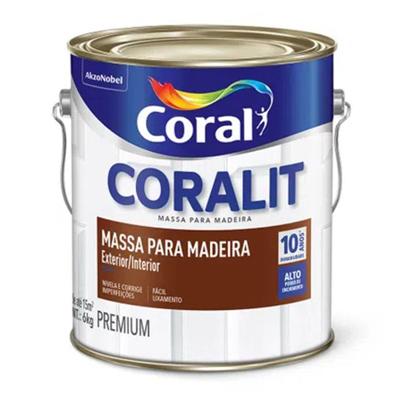 Coralit Massa Óleo p/ Madeira