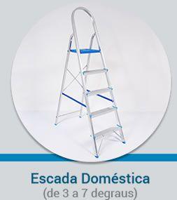 Escada Doméstica em Alumínio Alumibraz