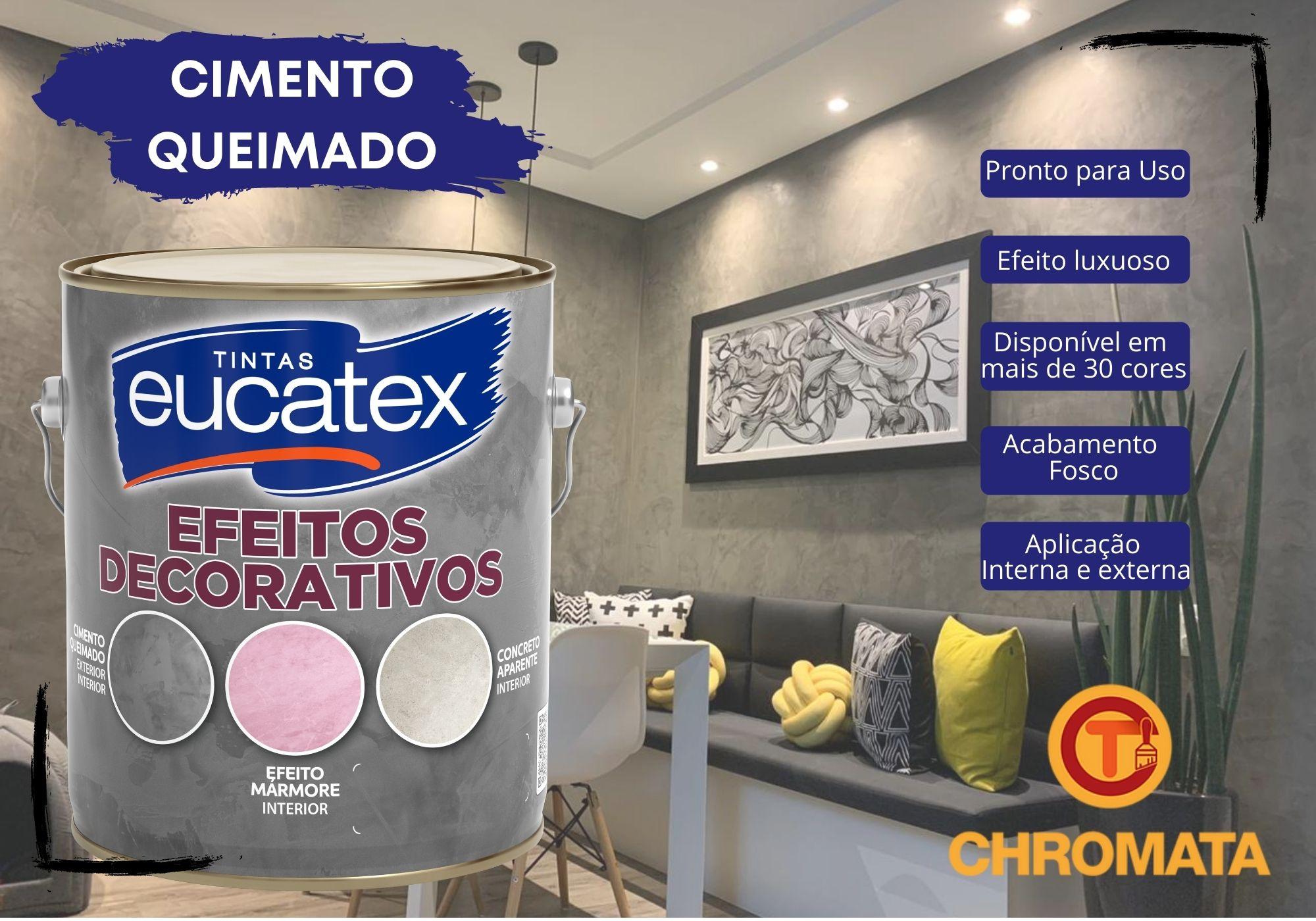 Eucatex Efeito Decorativo Cimento Queimado 4Kg