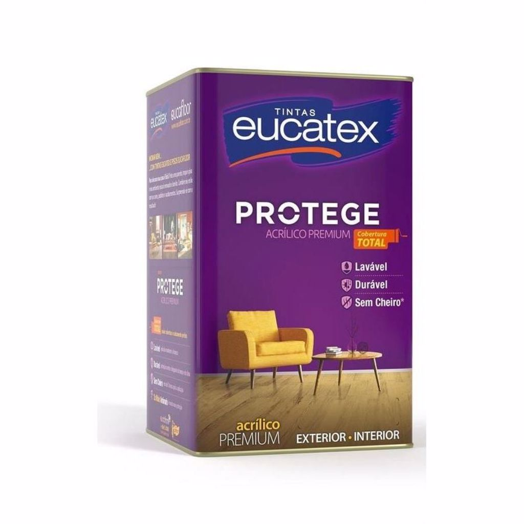 Eucatex Protege Acrílico Fosco Lavável 18L