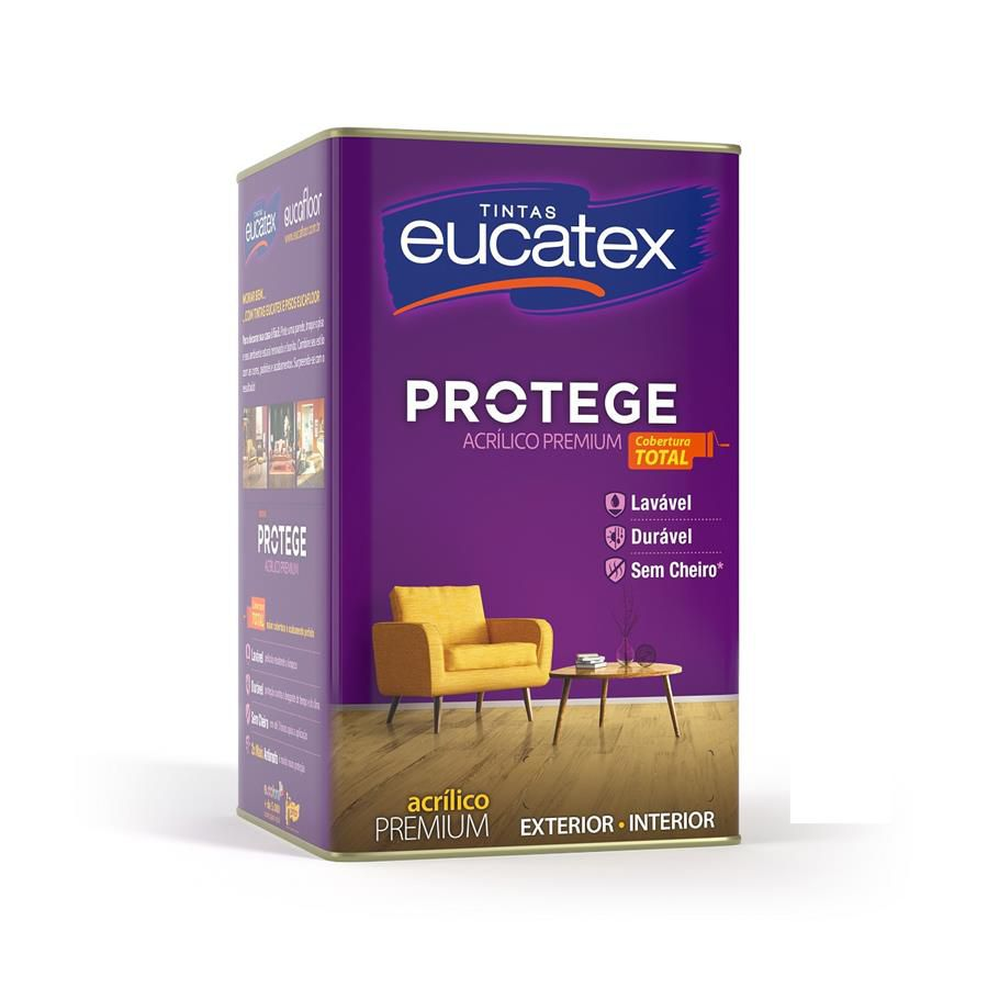 Eucatex Protege Acrílico Fosco Lavável
