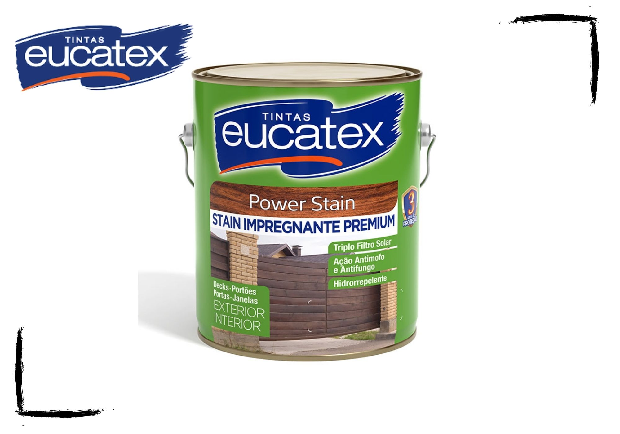 Eucatex Stain Power Impregnante Acetinado Natural e Cores 3,6L