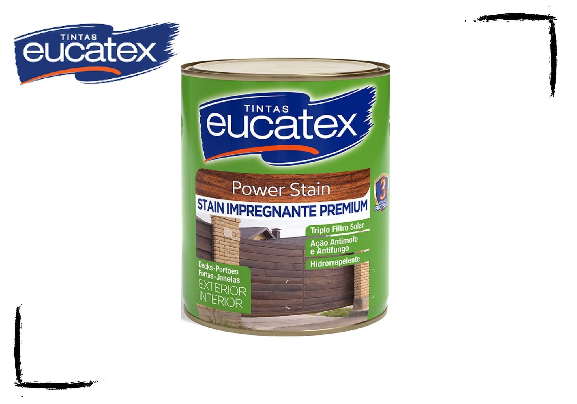 Eucatex Stain Power Impregnante Acetinado Natural e Cores 900ml
