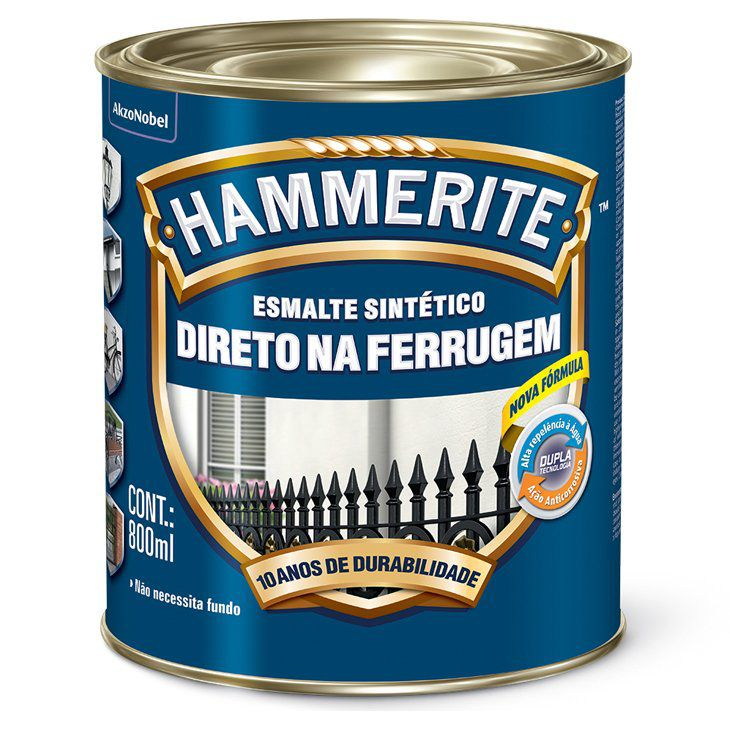 Hammerite Esmalte Sintético Direto na Ferrugem 800ml