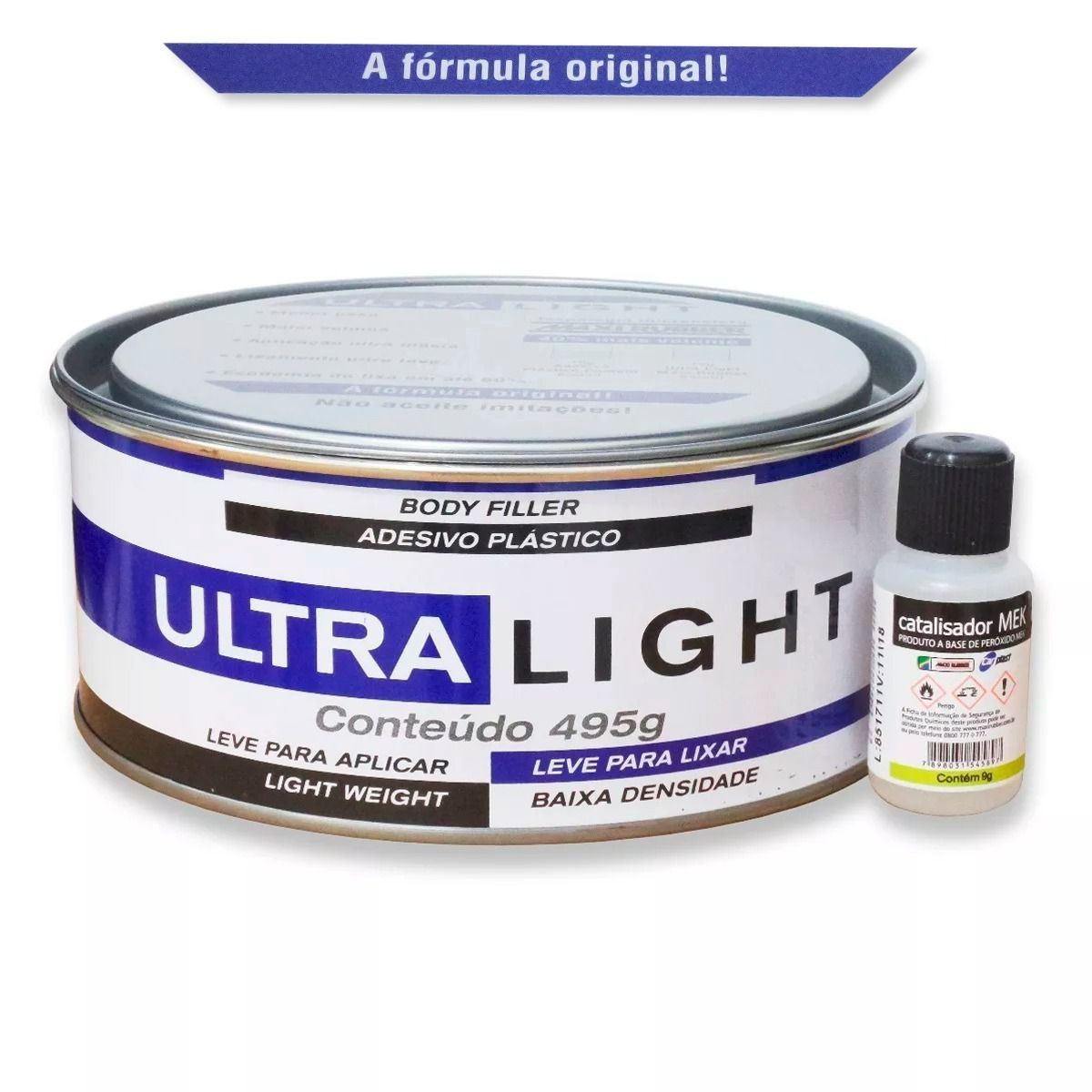 Massa Plastica c/ Catalisador Ultralight - Maxi Rubber