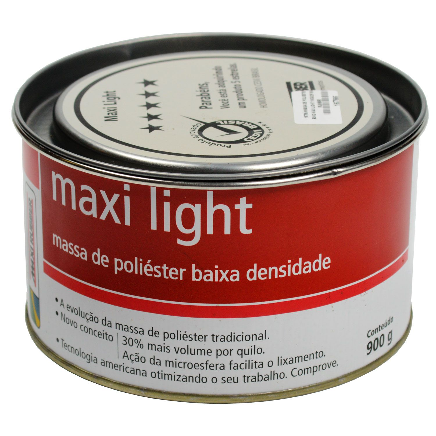 Massa Poliéster Light com catalisador - Maxi Rubber