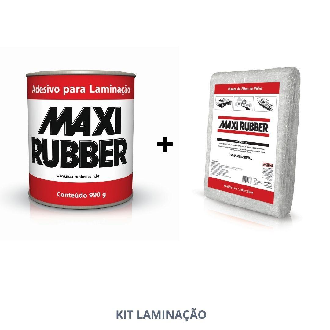 Maxi Rubber Kit Laminação Adesivo + Manta Fibra de Vidro