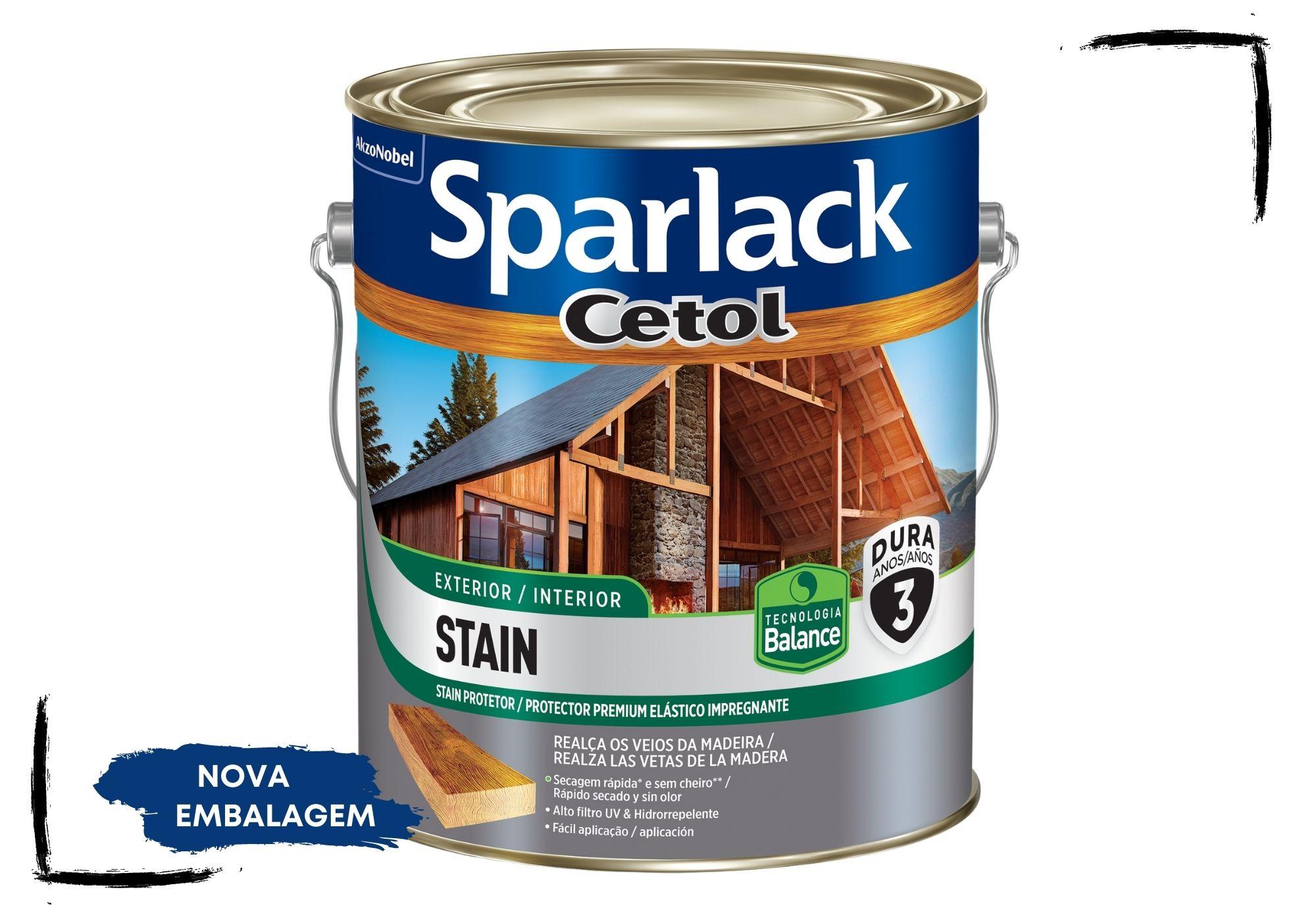 Sparlack Cetol Stain Balance: Incolor UV Glass, Natural e Cores Acetinado 3,6l