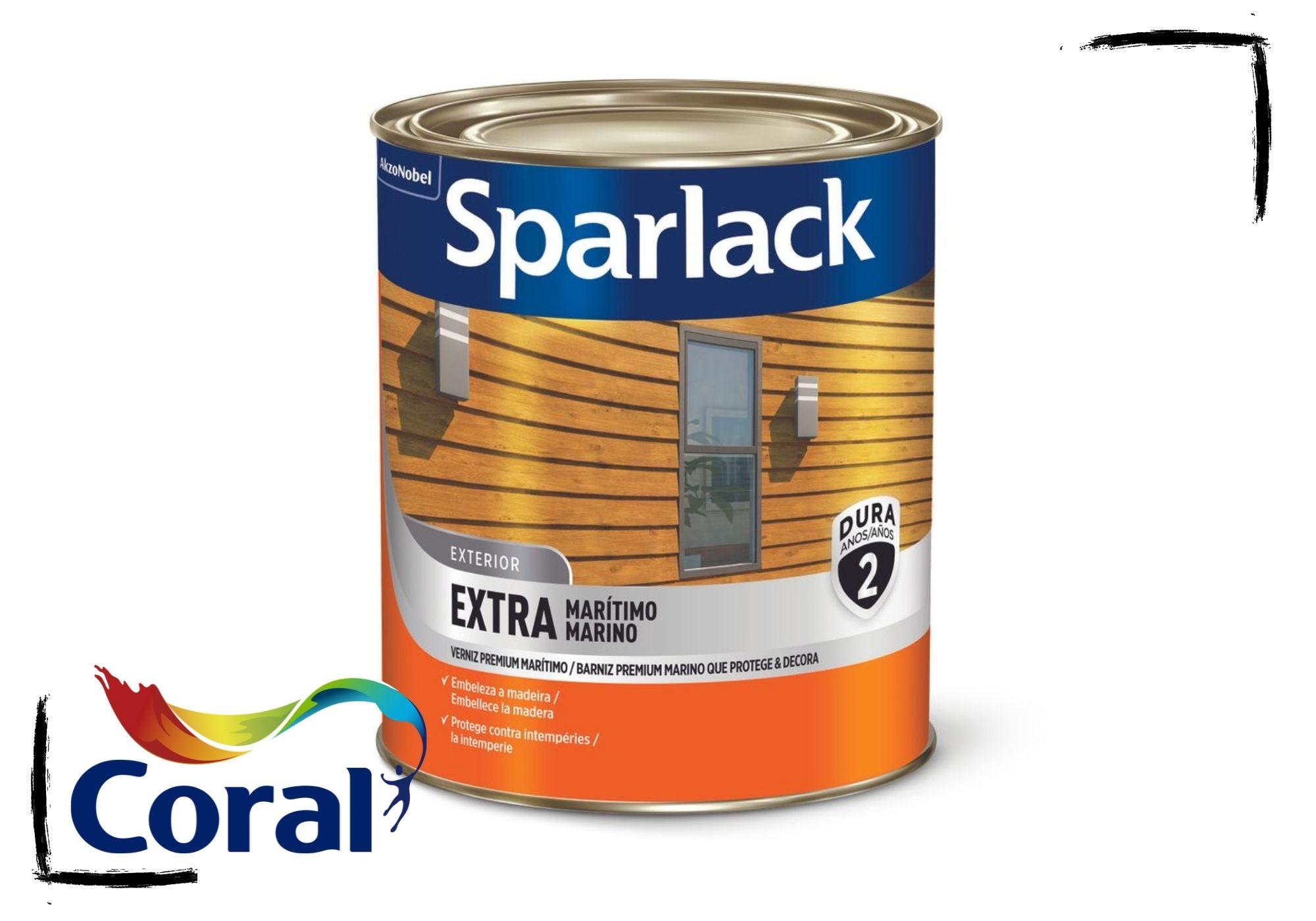 Sparlack Verniz Extra Marítimo Natural e Cores Acetinado 900ml