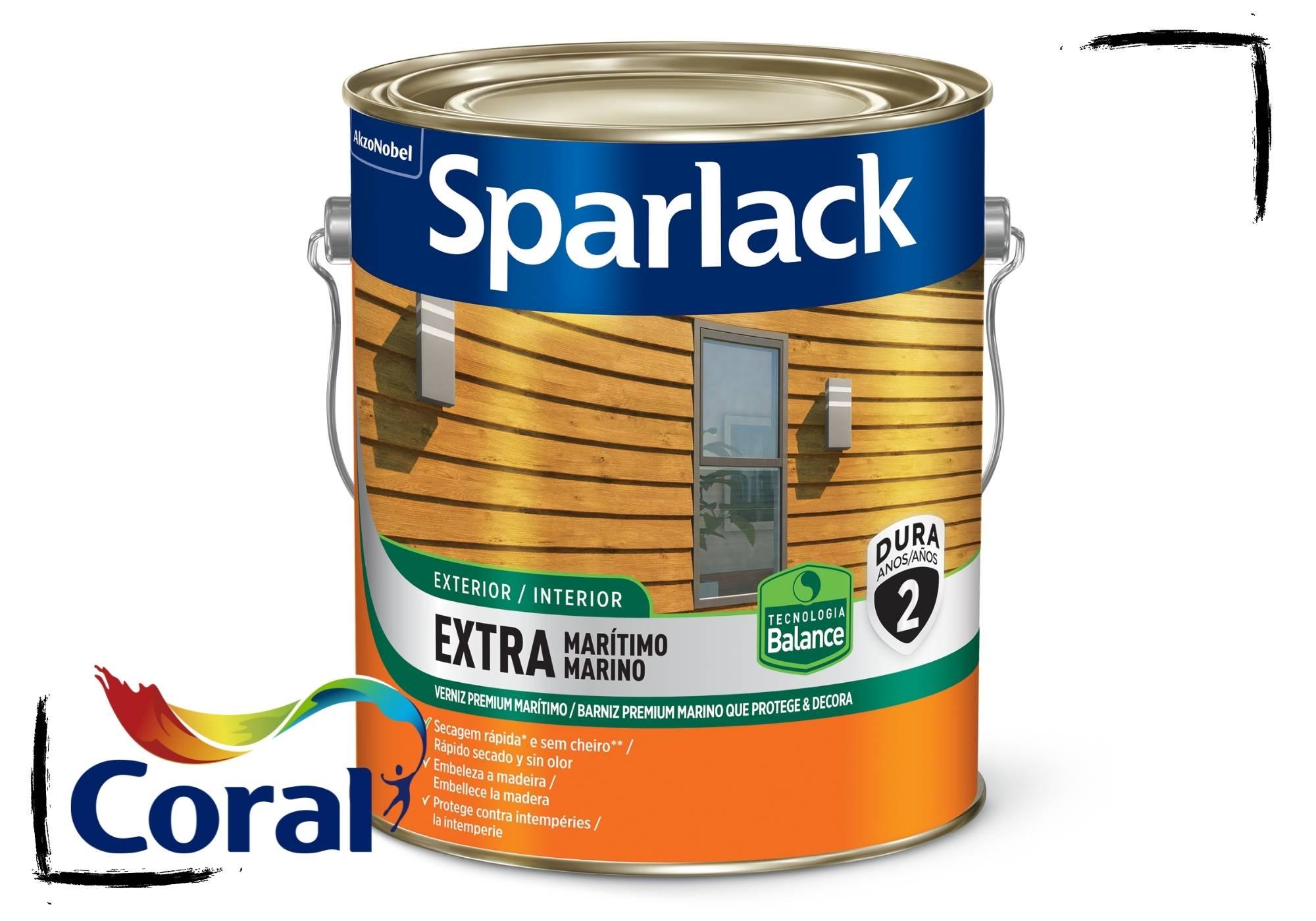 Sparlack Verniz Extra Marítimo Natural e Cores Acetinado Balance 3,6l