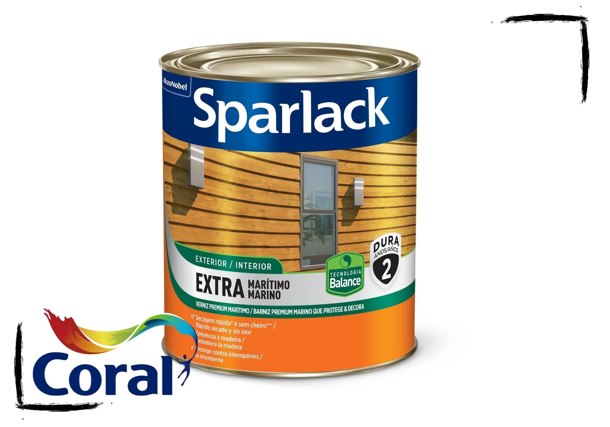 Sparlack Verniz Extra Marítimo Natural e Cores Acetinado Balance 900ml