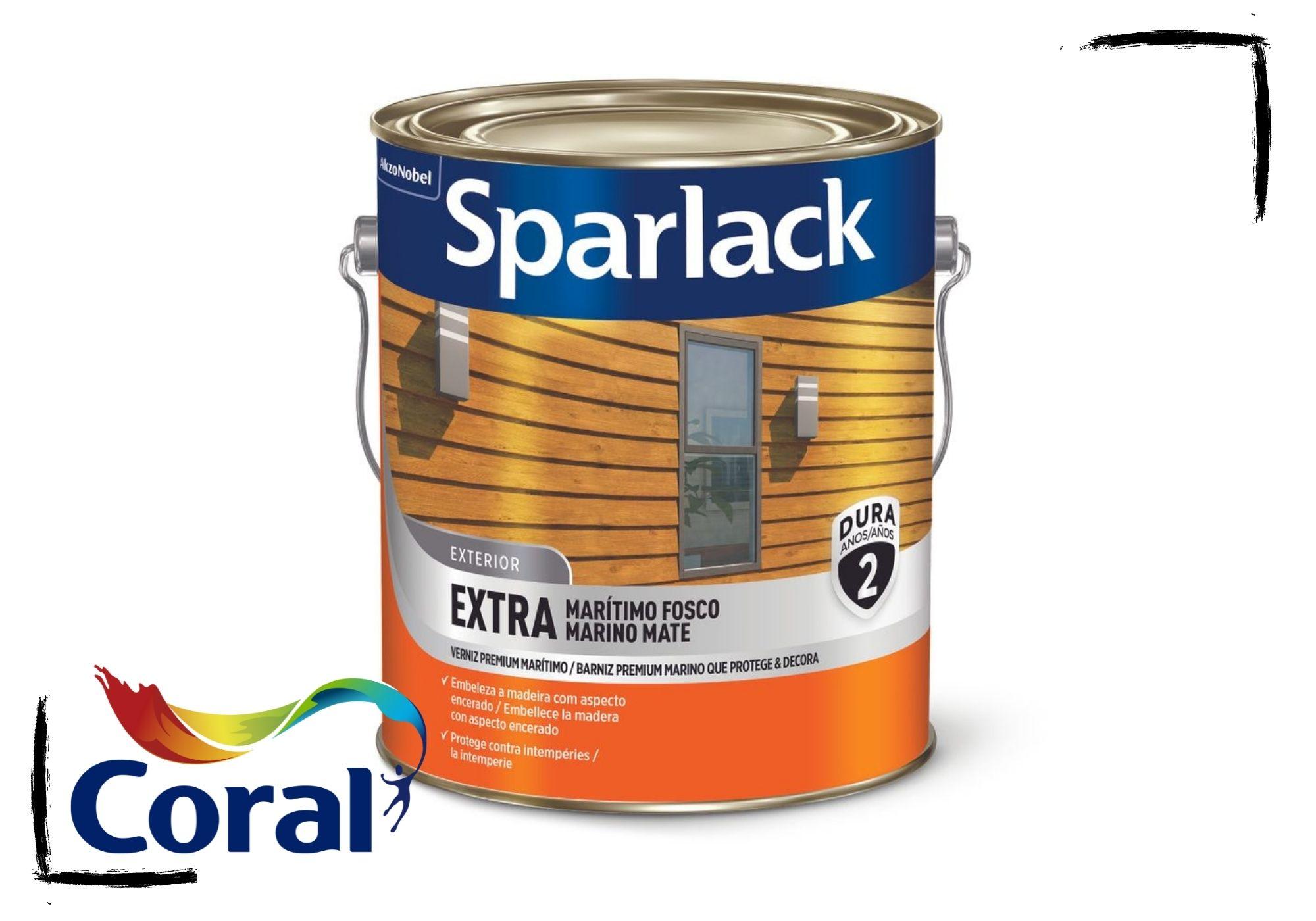 Sparlack Verniz Extra Marítimo Natural e Cores Fosco 3,6l