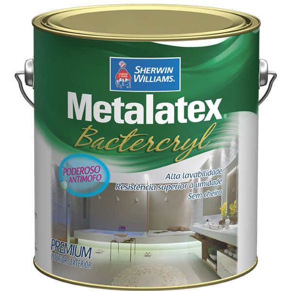 Tinta Acetinada ou Semibrilho Metalatex Bactercryl  Sherwin Williams