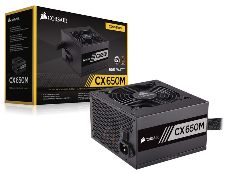 CXM 650W ATX PFC ATIVO BIVOLT SEMI-MODULAR S/ CABO DE FORCA