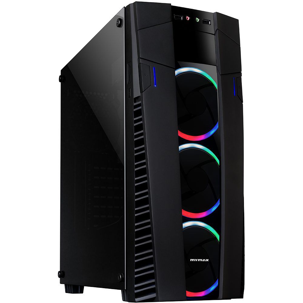 Gabinete Gamer Eclipse – 3 Rings Fan LED RGB