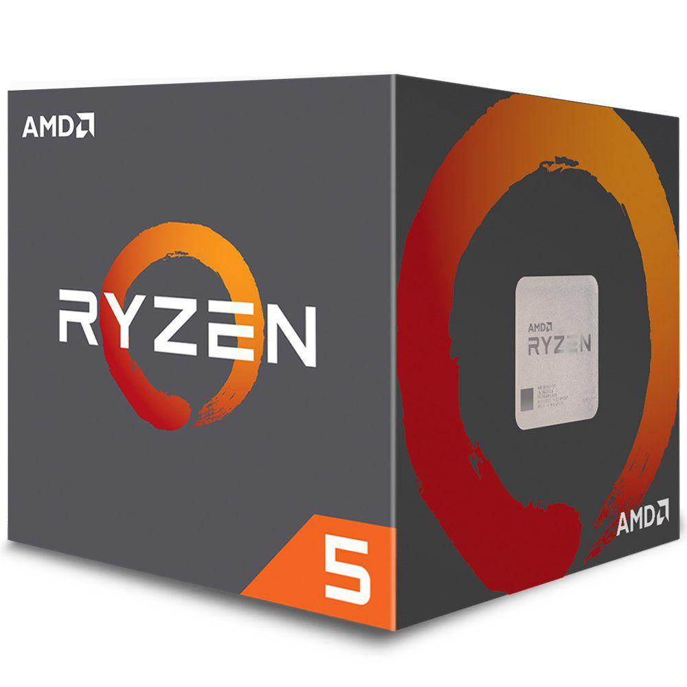 Processador AMD Ryzen 5 2400G c/ Wraith Stealth Cooler, Quad Core, Cache 6MB, 3.6GHz (Max Turbo 3.9GHz), Radeon VEGA, AM4