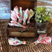 clips de tecido feito à mão (florais)