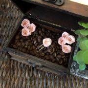 clips de tecido feito à mão (mini-rosa rosé)