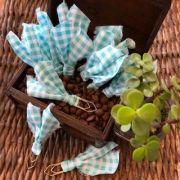 clips de tecido feito à mão (xadrez tiffany)