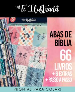 abas de bíblia - 66 livros e mais 6 abas extras  -  Fé Ilustrada