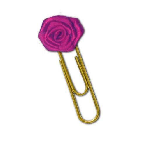 Clips Mini Rosa de Cetim  -  Fé Ilustrada