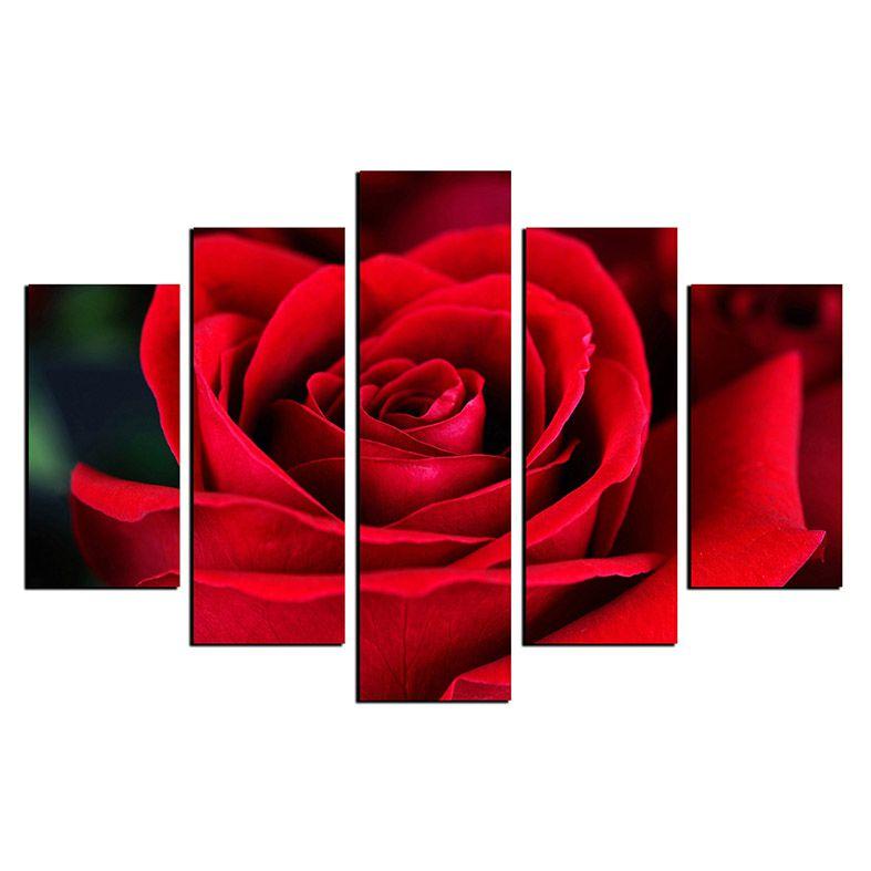 Quadro Rosa Vermelha Em Mdf Rcs Decorações