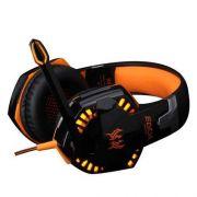 Headset Gamer Profissional Kotion Each G2000 Laranja