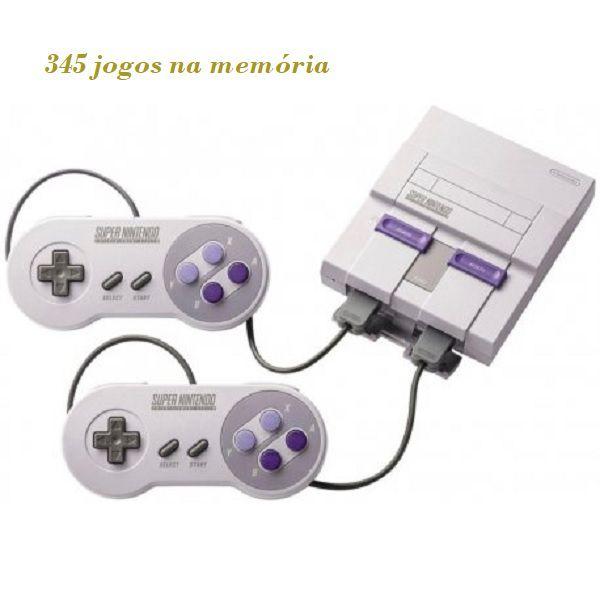 Console Super Nintendo Classic Edition + 2 Controles + 345 Jogos (Digitais)