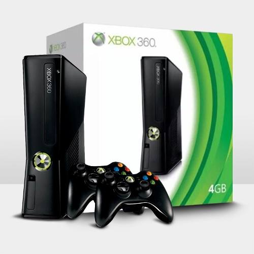 Console Xbox 360 4GB + 2 Controles Wireless