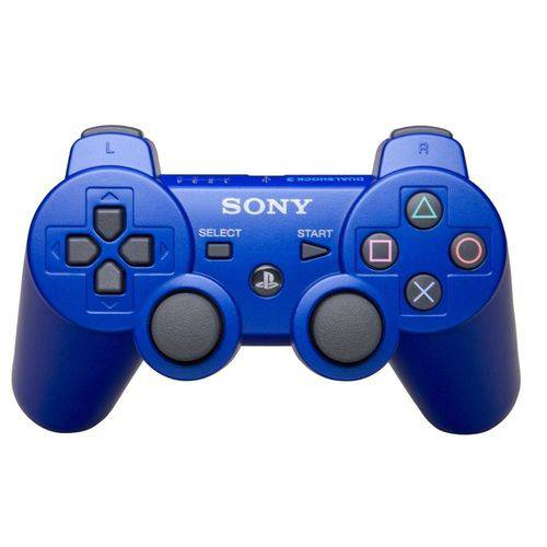 Controle Ps3 Dualshock 3 Bluetooth Ou USB Playstation 3 AZUL