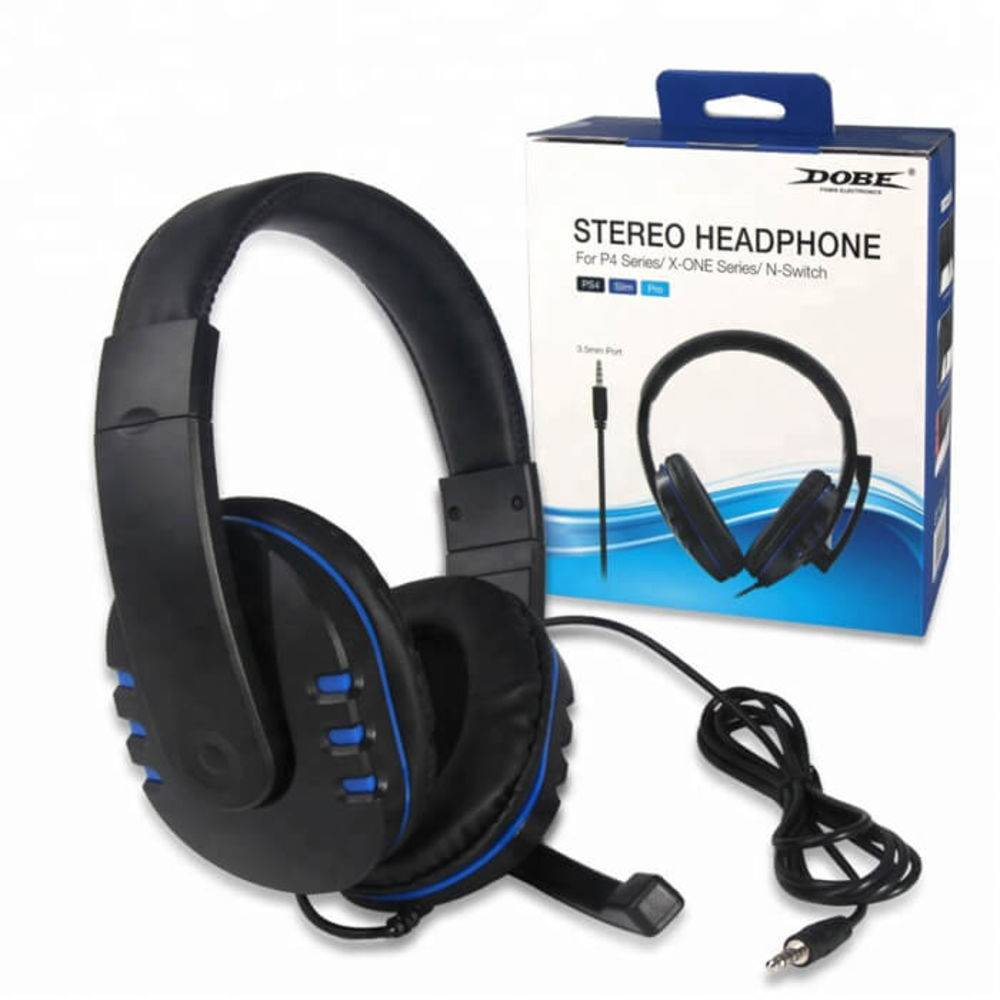 Headphone Fone De Ouvido Para Playstation 4 Ps4 Series, Xbox One Séries E Nintendo Switch Dobe
