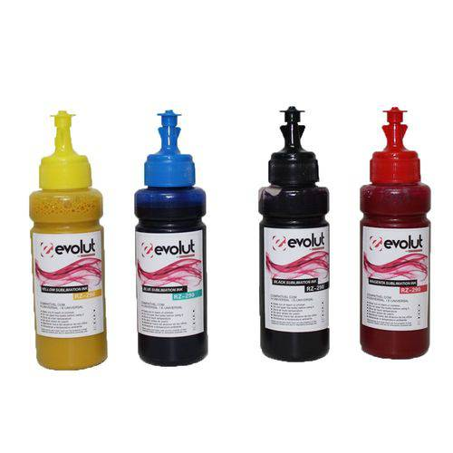Kit 4 Tintas para Epson Bulk Ink L1300 100ml Evolut