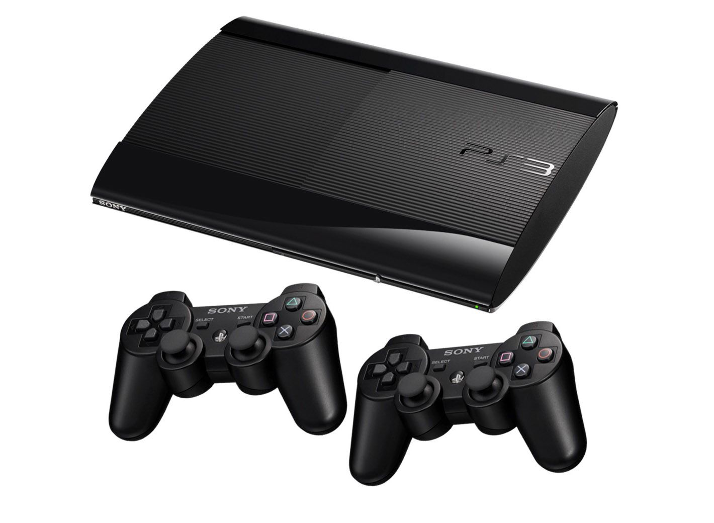 Playstation 3 Super Slim 2 controles 500Gb